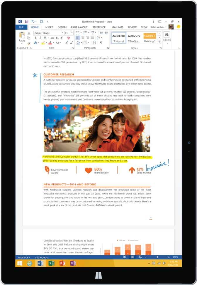 Microsoft Surface Pro 3 64GB Intel i3