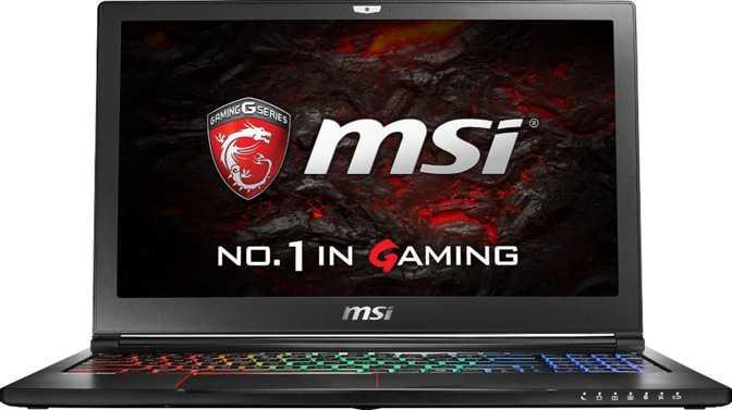 """MSI GS63VR 6RF Stealth Pro 15.6"""" Intel Core i7 6700HQ 2.6GHz / 16GB / 256GB"""