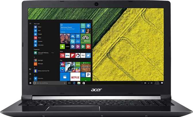 "Acer Aspire 7 17.3"" Intel Core i7-7700HQ 2.8GHz / 8GB / 256GB SSD"