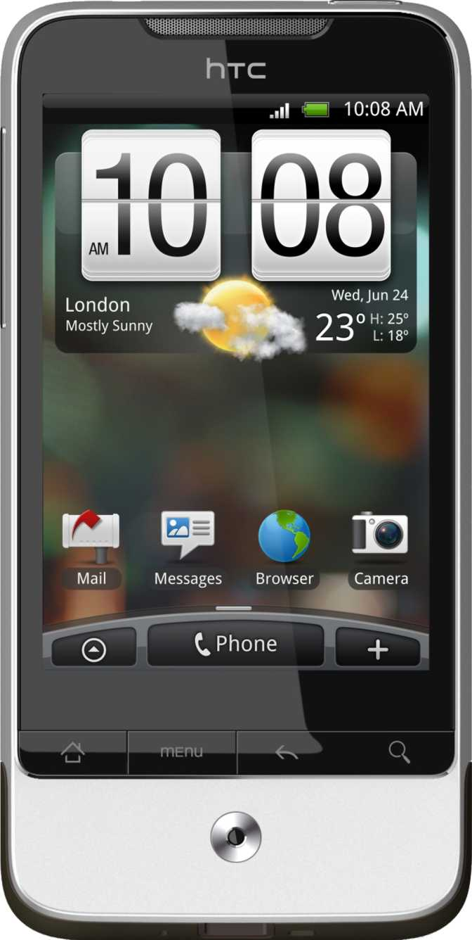 HTC Legend vs Motorola Defy Mini XT320