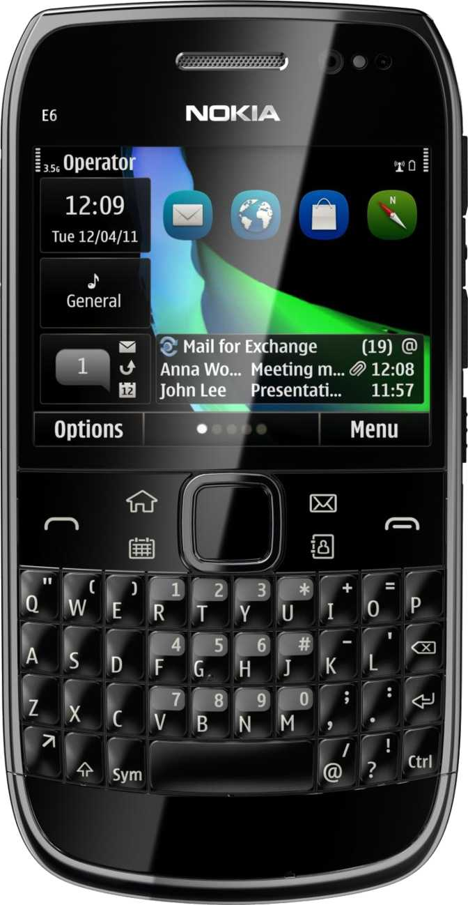 Nokia E6 vs Nokia XL