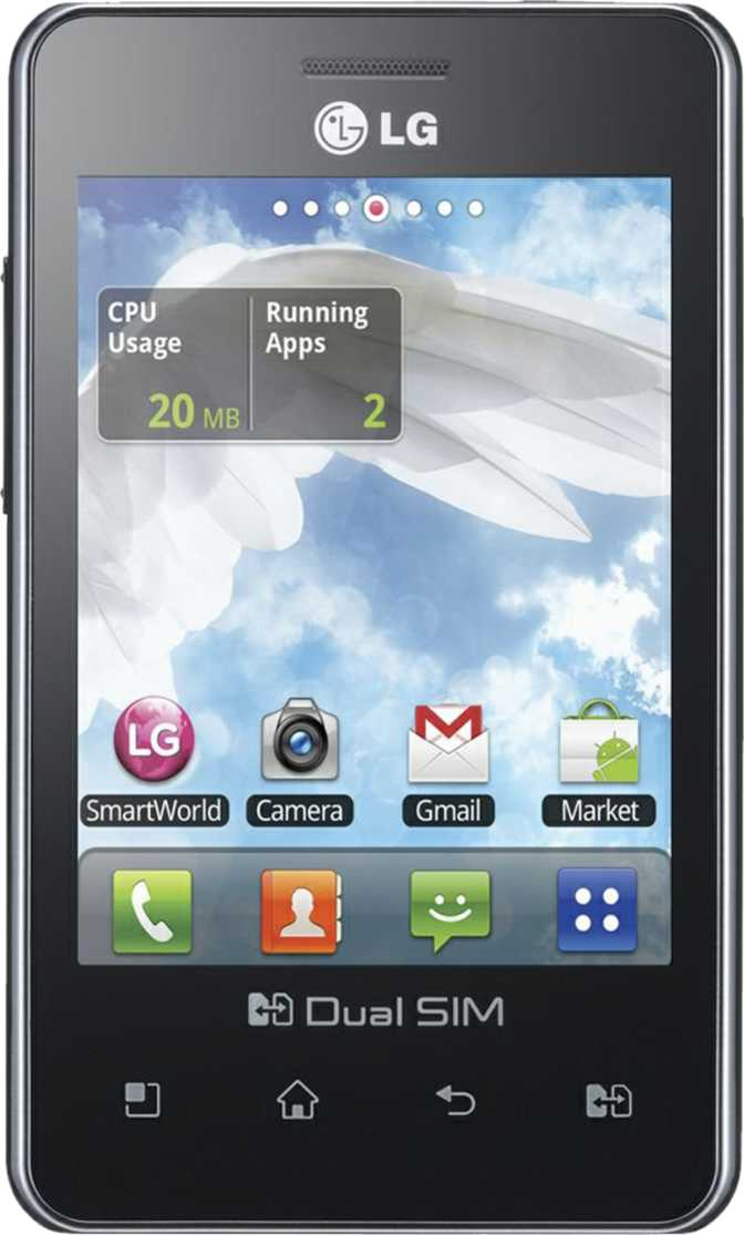HTC Desire vs LG Optimus L3 E405