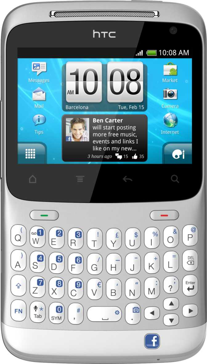 HTC ChaCha vs Nokia N900