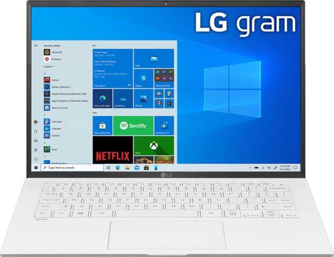 LG Gram 14 (14Z90P) Intel Core i5-1135G7 2.4GHz / 8GB RAM / 256GB SSD