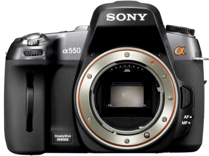 Sony A550 DSLR vs Sony SLT-A55