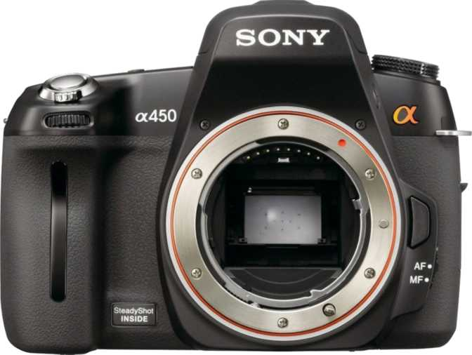 Sony SLT-A55 vs Sony A450 DSLR