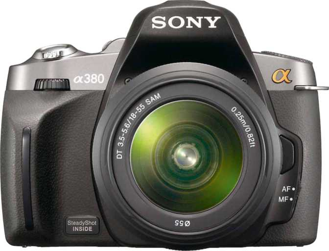Sony A380 DSLR vs Sony A380 DSLR + Sony DT 18-55mm/ F3.5-5.6 SAM