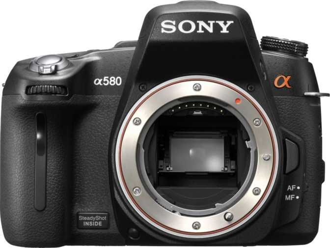 Sony A550 DSLR vs Sony A580 DSLR