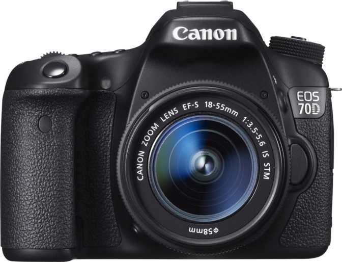 Canon EOS 70D + Canon EF-S 18-55mm f/3.5-5.6 IS STM vs Canon EOS Rebel SL2 + Canon EF-S 18-55mm f/4-5.6 IS STM
