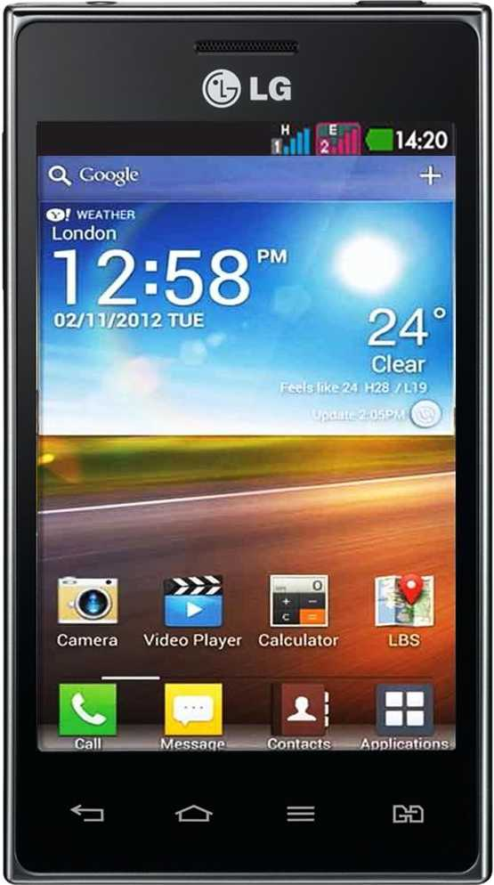 LG Optimus Black P970 vs LG Optimus L5 Dual E615
