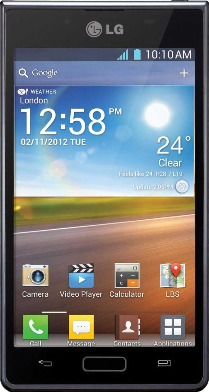 LG Optimus L7 P700 vs Sony Ericsson Xperia X10