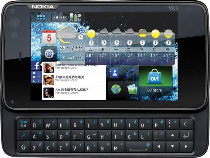 Samsung Galaxy Chat B5330 vs Nokia N900