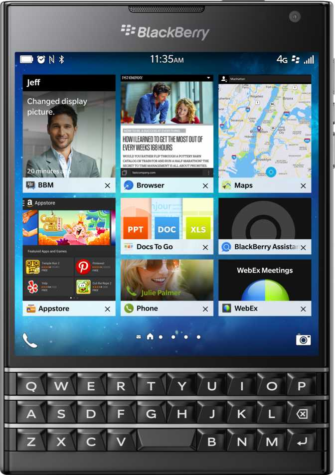 Sony Xperia SL vs BlackBerry Passport