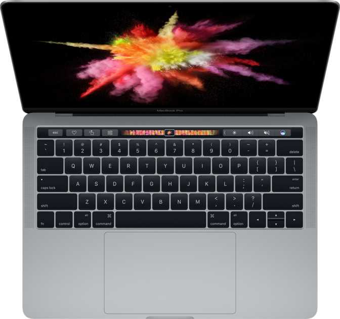 """Apple MacBook Pro (2017) 13"""" with Touch Bar and Touch ID / Intel Core i5 3.1GHz / 8GB / 512GB"""