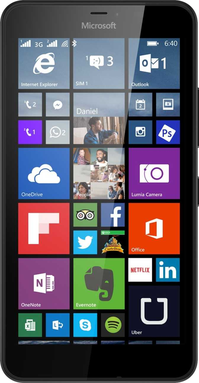 LG Optimus Black P970 vs Microsoft Lumia 640 XL LTE