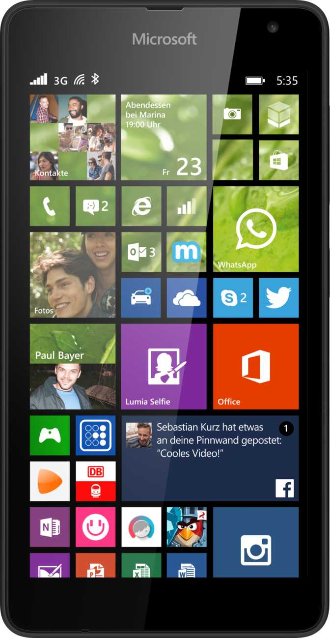 Microsoft Lumia 535 vs HTC Sensation
